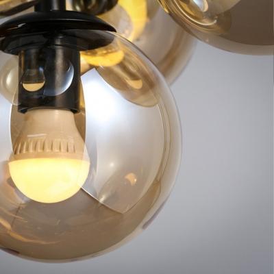 Bubble Black Pendant Light 5 Lighted