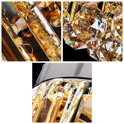 Amber Colored Fringe Crystals Add Some Luxury and Charm to This Flush Mount  Lighting