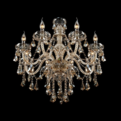 Beautiful and Elegant Waterfall Crystal Chandelier with 8 Candle Light 32.2