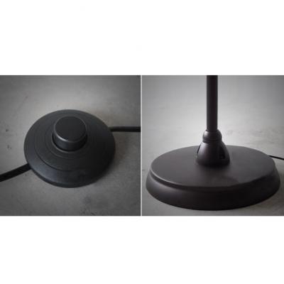 Vintage Task  1-Light Floor Lamp in Black Finish