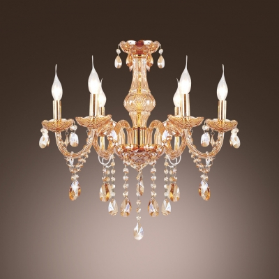Crystal chandelier noteworthy for ornate arms and scrolls hung with crystal chandelier noteworthy for ornate arms and scrolls hung with irregular gleaming crystal aloadofball Image collections