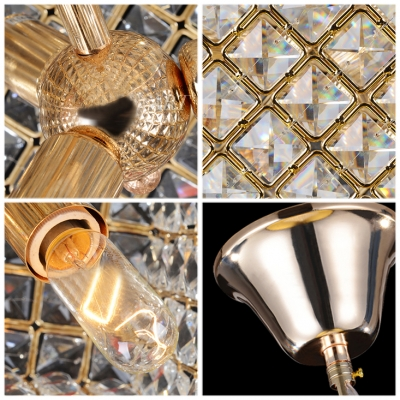 Cube Glittering Crystal Beads Large Pendant Light Shine with High Quality Crystals