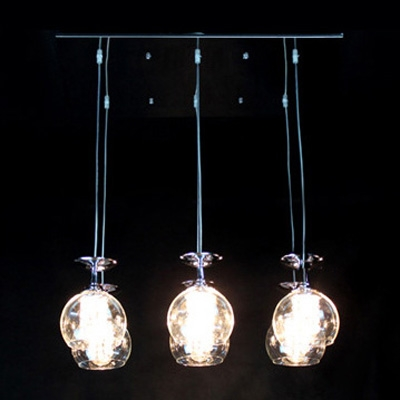 Dazzling Six Swag Chandelier with Checkerboard Crystal Pendants