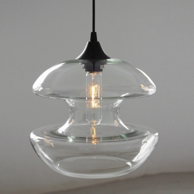 Dumbbell Glass Pendant in Vintage Industrial Style
