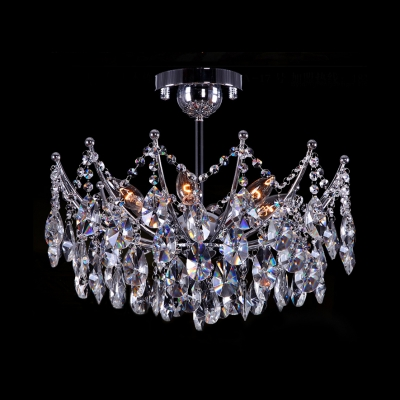 "Купить со скидкой Elegant and Romantic 16""Wide 4-Light Sparkling Clear Crystal Semi-Flush Mount Light"