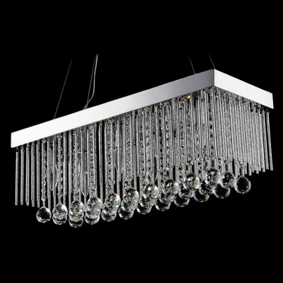 Eye-catching Chandelier Featuring Glistening Crystals and Dazzling Chrome Finish Deatails