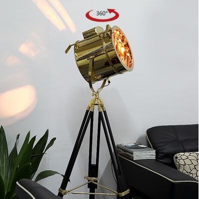 1 Light LED Floor Lamp Gold Lamps Floor Lamps Tripod Lamps