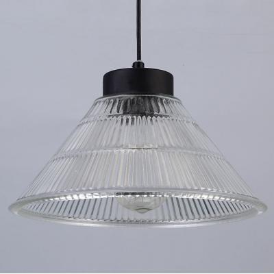 Vintage Cone Prismatic Glass LED Pendant Light