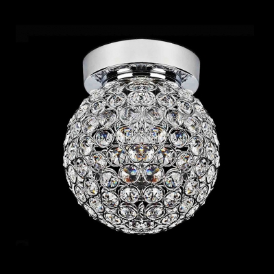 Spectacular Semi Flushmount Ceiling Light With Glorious Clear Crystal Producing Unforgettable Glitter
