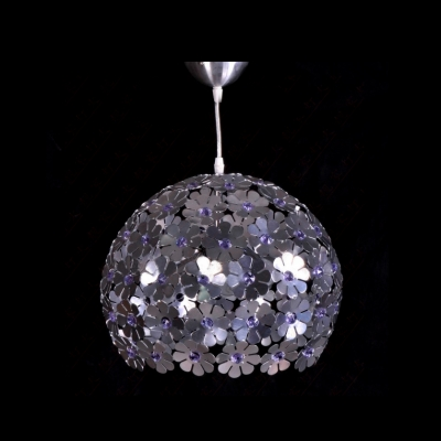 Striking Blossom Aluminum Frame and Beautiful Crystal Accents Composed Eye-catching Large Pendant Light