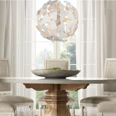 Metal Iorn Patch Pendant Light by Designer Lighting White