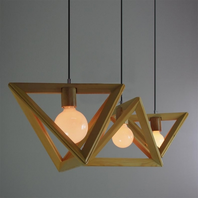 Wooden Triangle Brilliant Design Large Pendant Light For Dinning Room ... : large wooden pendant light - azcodes.com