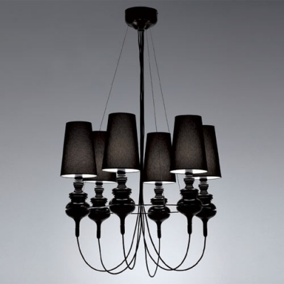 "Empire Shaded Designer Chandelier Light 29.5""Wide 6-Light"