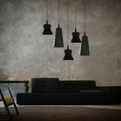 Black Finished Wrought Iron Designer Mini Pendant Light