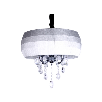 Changing Color Drum Shade Brilliant and Beautiful Hand Cut Crystals Chandelier