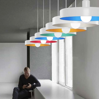 Colorful And Beautiful Rounded Disc Designer Pendant Lighting In