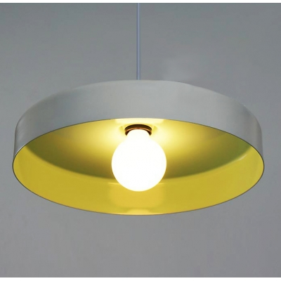 """Colorful and Beautiful Rounded Disc Designer Pendant Lighting in 13.7""""Wide"""