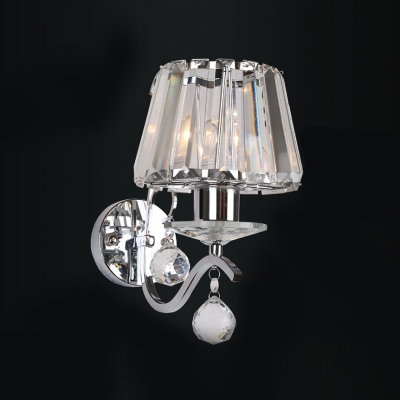 Crystal Glass and Contemporary Look of  Wall Sconce Add Elegance to Any Area.