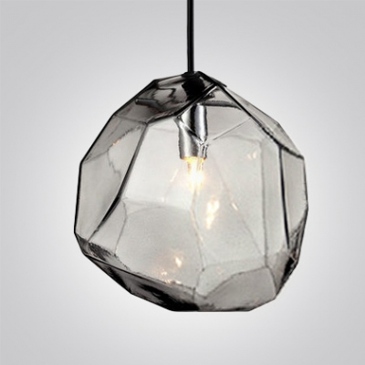 Crystal Ice Cube In Blue Orange Grey Novel Pendant Light