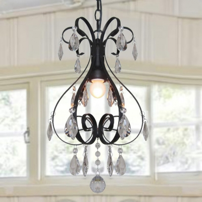 Elegant and Classic Inspirations Create Wonderful Wrought Iron and Crystal Chandelier