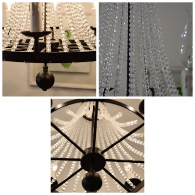 Elegantly Clear Crystal Chains 8 Candle Light  21.6