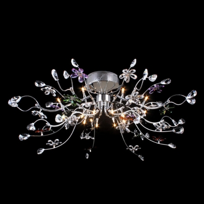 Fashion Style Close to Ceiling Lights 15 Lights and Up Crystal – Close to Ceiling Crystal Chandelier