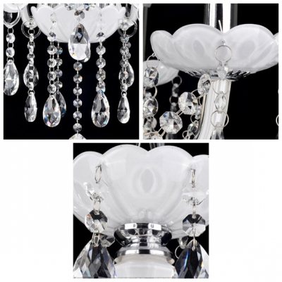 Intriguing and Lavish 6-Light Stunning Crystal Droplets 23.6