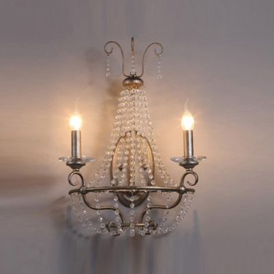 Magnificently Stunning Wall Sconce Features Clear Crystal Beads and Chrome Finish