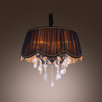 Fashion style chandeliers pendants mini pendants crystal lights majestic contouring trim sheer pleated black shade hand cut crystal accented chandelier mozeypictures Gallery