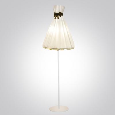 """Romantic And White Fabric Umbrella Shaped Designer Floor Lamp 66.9""""High"""