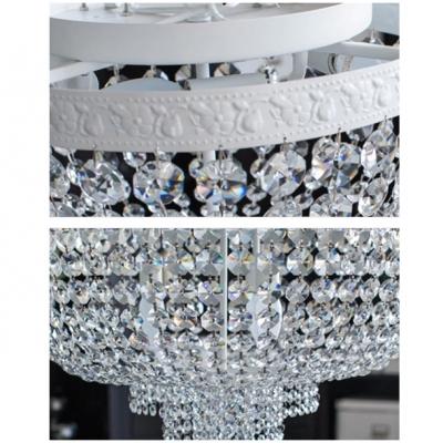 Stunning Crystal Beaded Bowl Flush Mount Light with 4-Light 14.21