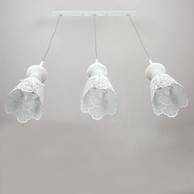 "Romantic  Rectangular Canopy Designer Multi-Light Pendant Three Light 27.5""Wide"