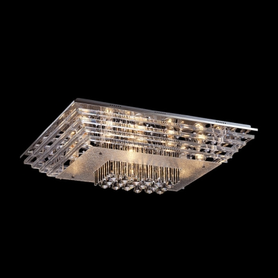 17 7 Quot Wide Crystal Accented Flush Mount Ceiling Light