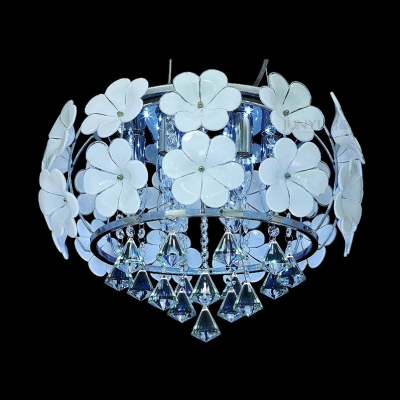 Beautiful and Romantic White Flower and Crystal Diamonds 17.7