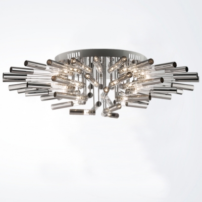 Close To Ceiling Lights: Blooming Large LED Bar Flower Shape Modern Close to Ceiling Light,Lighting