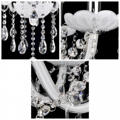 Brilliant Design Five Lights Candelabra Chandelier with Glittering Crystal Droplets in Crystal Style