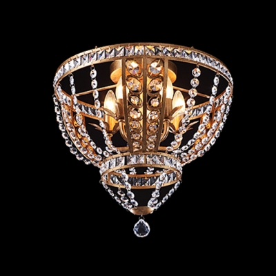 Delicate wrought iron frame adorned with crystal beads add glamour delicate wrought iron frame adorned with crystal beads add glamour to decorative flushmount ceiling light aloadofball Image collections