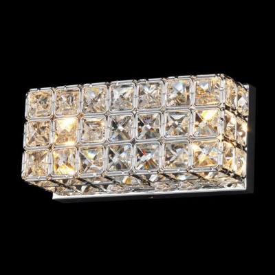 Elegant Crystal Wall Sconce Features Strongly Back Plate and Clear Crystal beads ... & Elegant Crystal Wall Sconce Features Strongly Back Plate and Clear ...