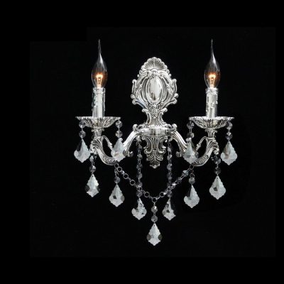 Exquisite European Style Wall Sconce Featured Two Candle Light and Clear Lead Crystal HL359362 фото