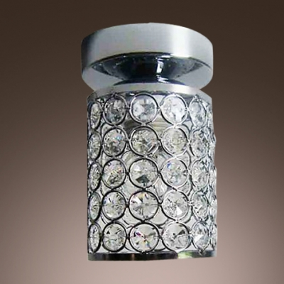 Exquisite Semi-flushmount Ceiling Light Adorned with Sparkling Crystals Finished n Brilliant Chrome