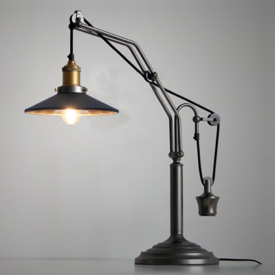 Vintage Black Farmhouse Single-Light Table Lamp