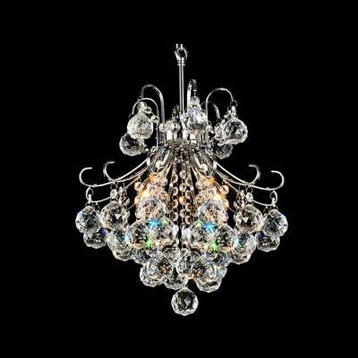 Glittering Crystal Diamonds Dropped Cut Metal Frame Mini Pendant Chandelier