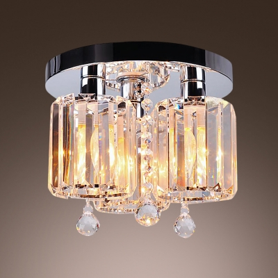 Lavish and Glamorous Semi Flush Ceiling Light Offers Welcomed Addition with Beautiful Square Crystals