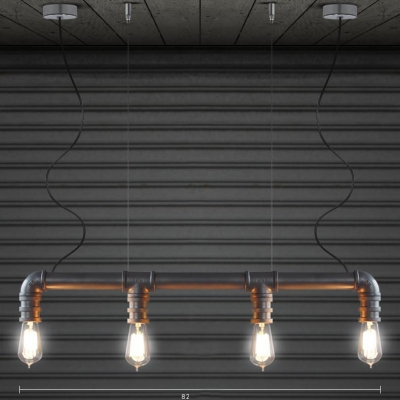LOFT Downward Pipe Silver LED Pendant with Four Lights