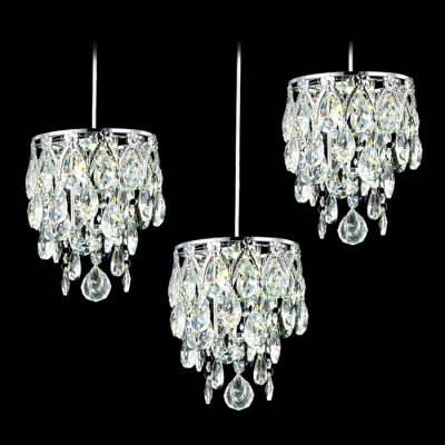 Magnificent Multi-Light Ceiling Light Fixture Completed with Elegant Clear Crystal Beads and Ball Creating Grand Decoration to Your Decor