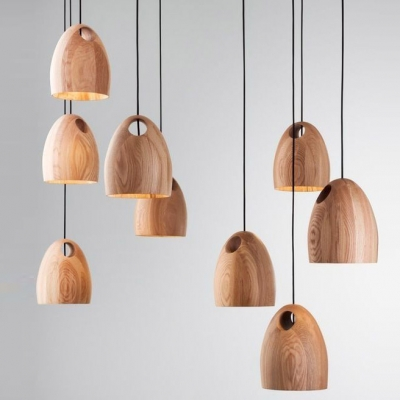 Natural Style Solid Wood Designer Mini Pendant Light For Dinning Room ... & Natural Style Solid Wood Designer Mini Pendant Light For Dinning ...