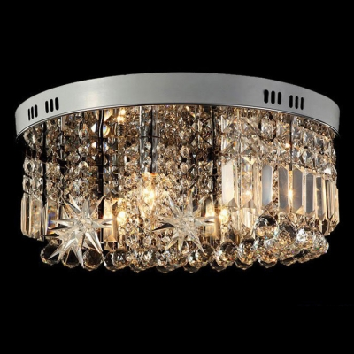 Sparkling Stars and Moon Whimsical Style Flush Mount Accented by Brilliant Crystals