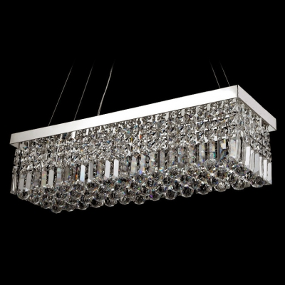 Striking Pendant Light Features Glitter of Crystal in Appealing Geometric Design