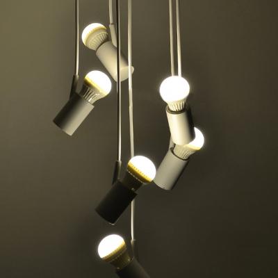 Led Mini Bulbs Multi-Light Pendant White 6-Light