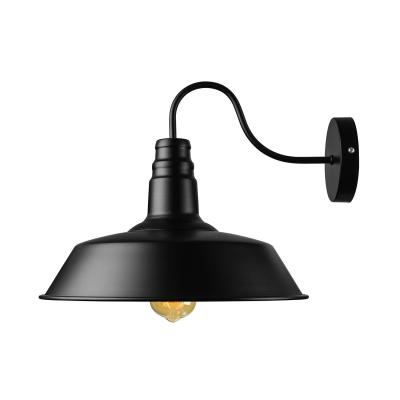 wide single light down lighting gooseneck barn wall light